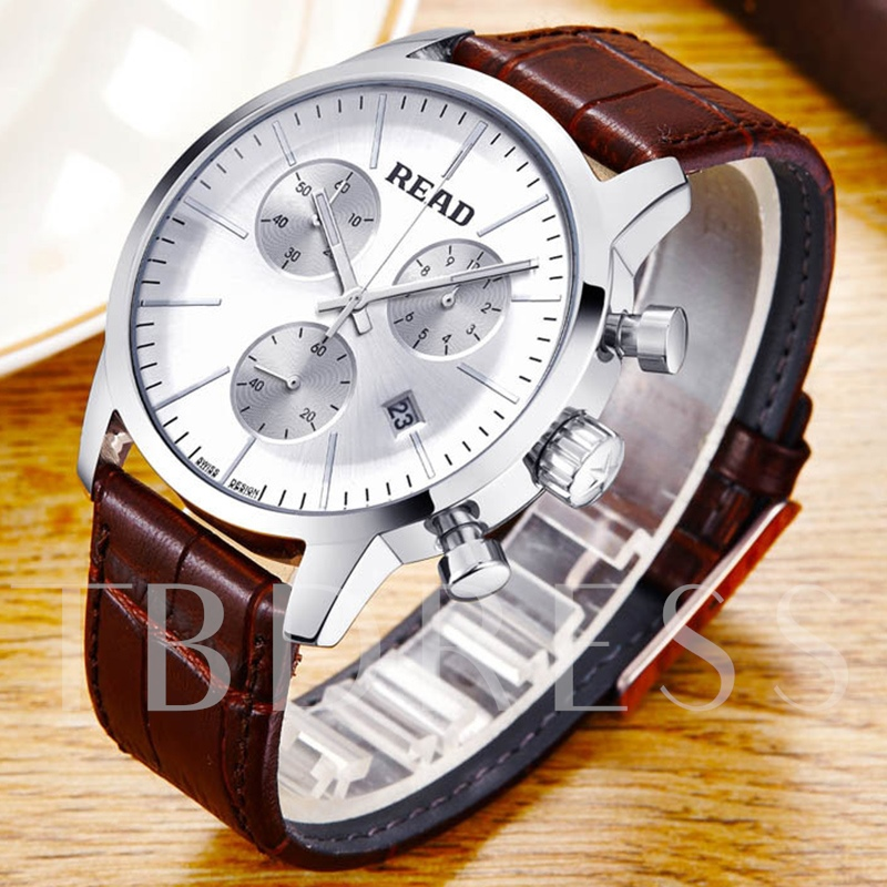 Luxury Luminous Pointer Waterproof Men's Watch