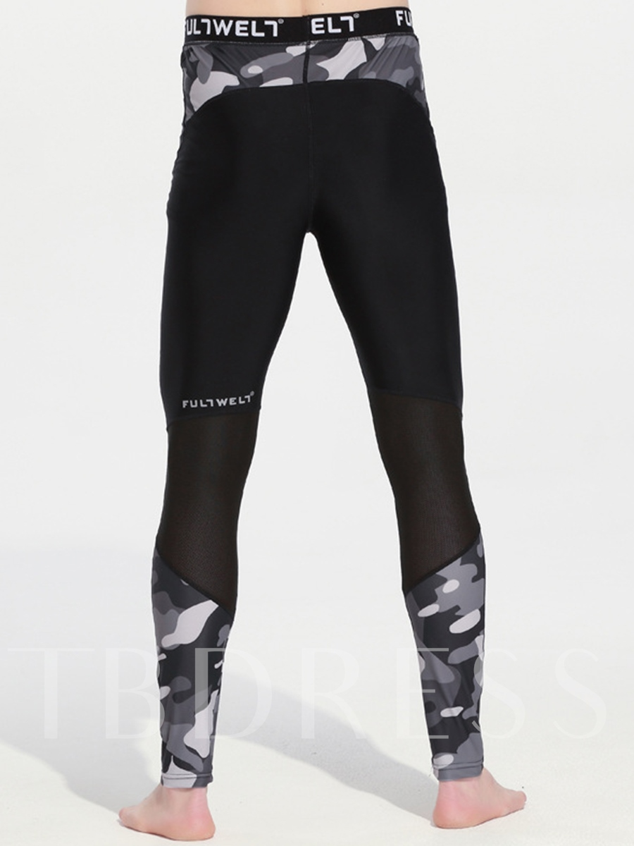 Camouflage Printing Form-Fitting Men's Sports Pants