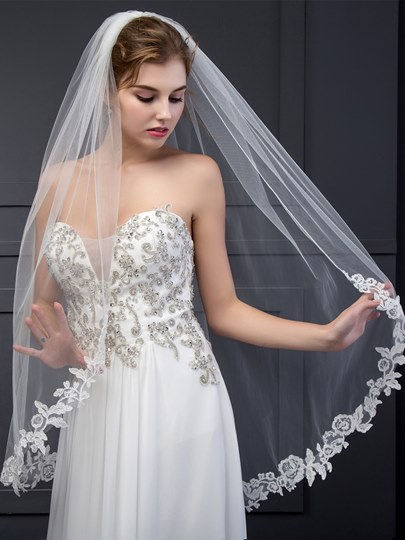 Wedding Veil With Appliques