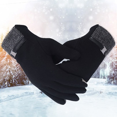 Outdoor Warm Touch Screen Design Men's Gloves