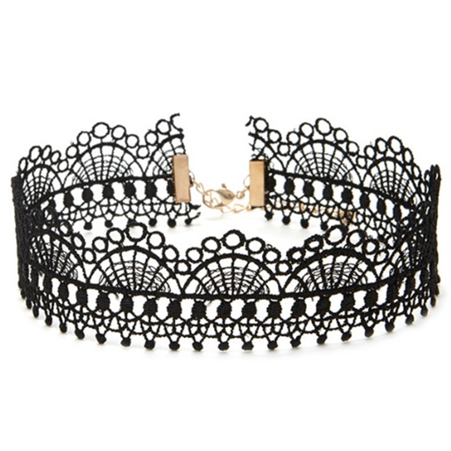 Vintage Style Black Lace Choker Necklace