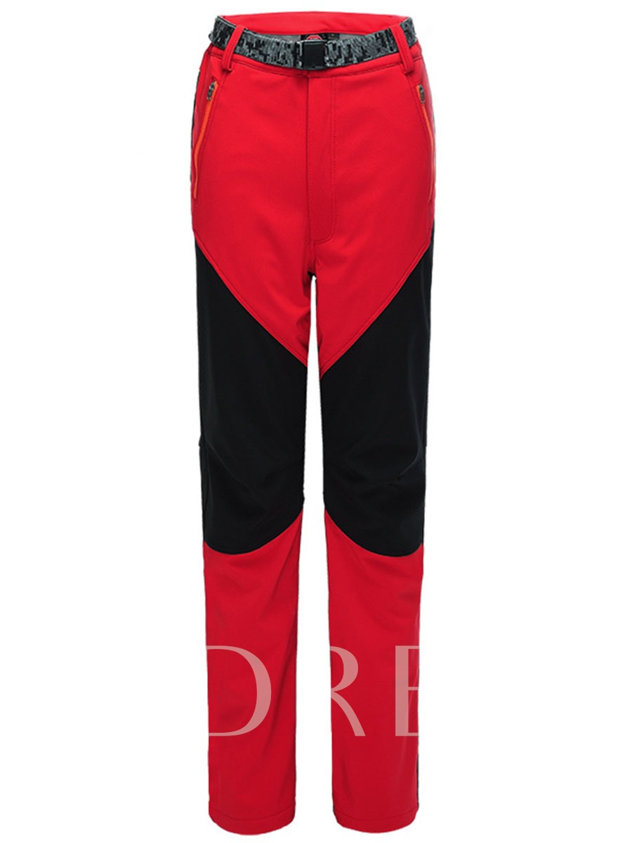 Image of Split Joint Fleece Lining Springy Couple Soft Shell Pants (Plus Size Available)