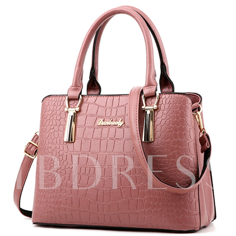 Crocodile Grain Big Space Women Tote Bag