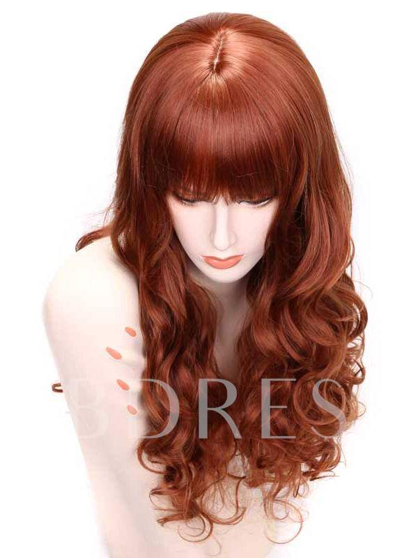 Long Wavy Capless Synthetic Hair Wig 24 Inches