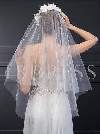 Wedding Veil With Flower Comb