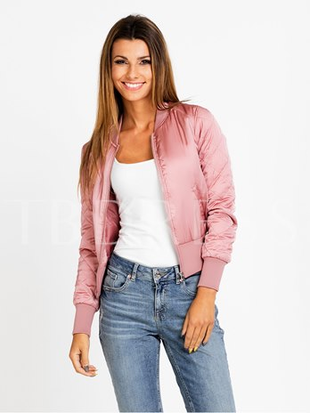 Solid Color Zipper Simple Long Sleeve Women's Jacket