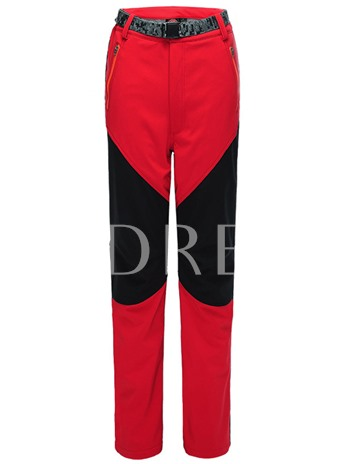 Split Joint Fleece Lining Springy Couple Soft Shell Pants (Plus Size Available)