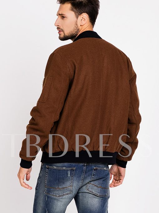 Men's Jacket with Wool Blends