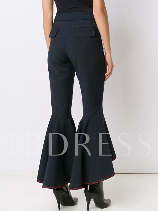 Black High Waisted Flared Women's Pants