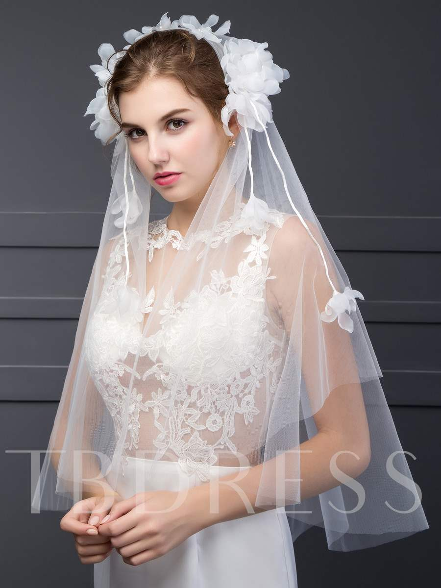 Flower Tulle Wedding Veil