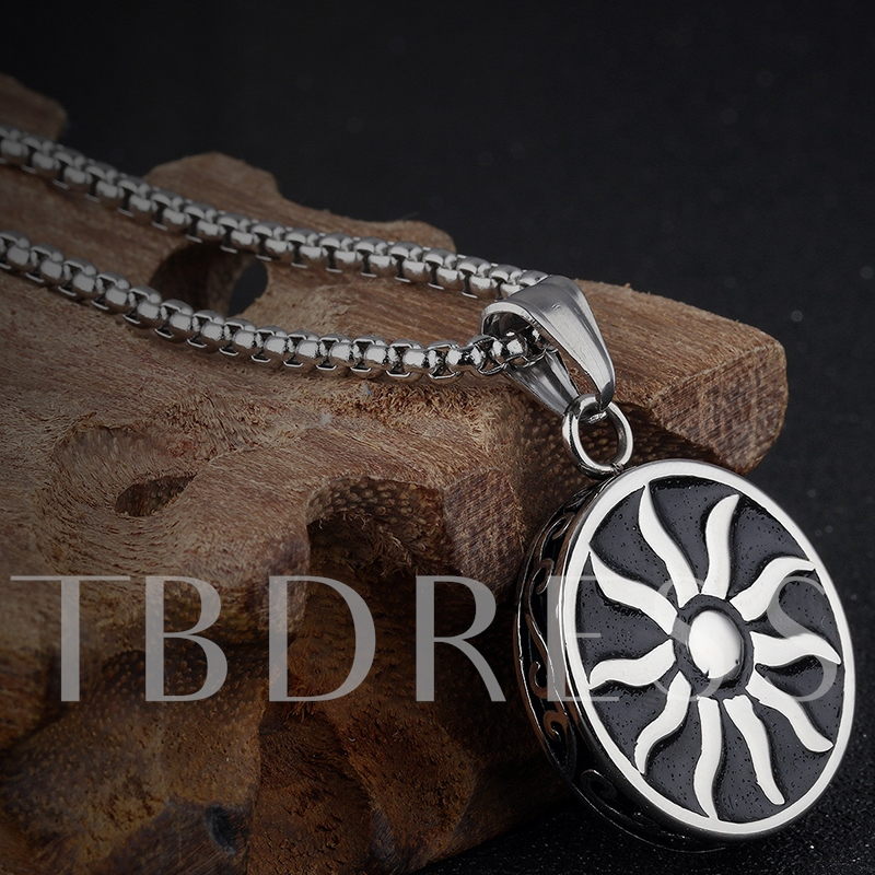 Sun God Pendant Men's Necklace