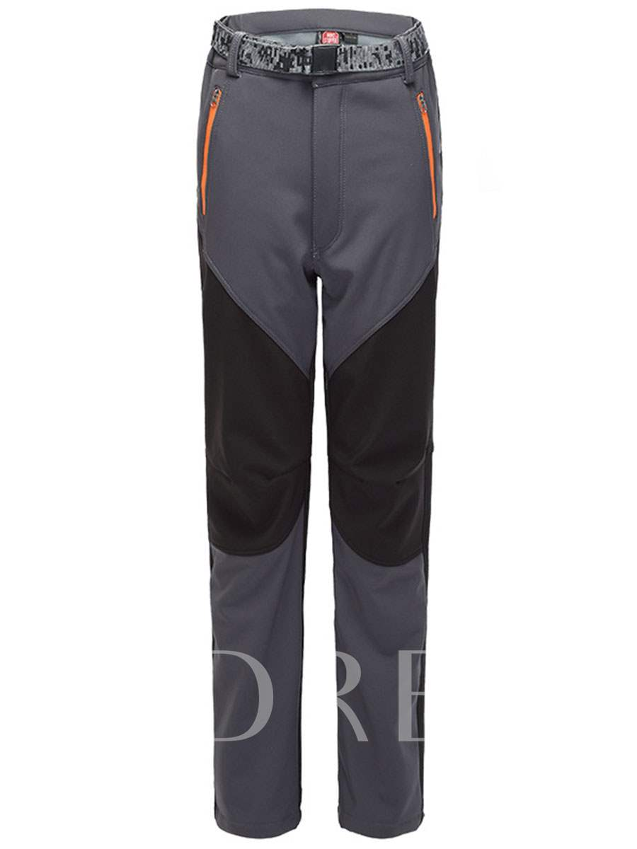 Split Joint Fleece Lining Springy Couple Soft Shell Long Pants (Plus Size Available)