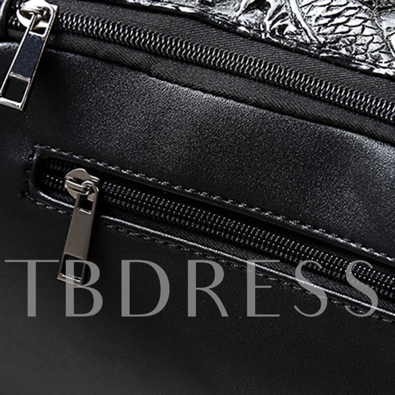 Creative Style Personality Rivet 3D Men's Sling Bag