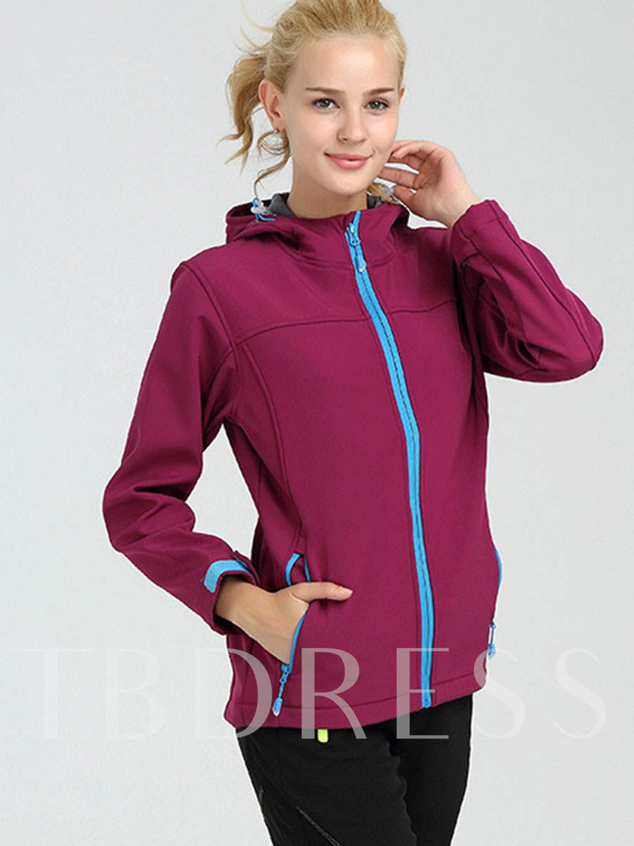 Sweat-Absorption Fleece Lining Women's Soft Shell Jacket (Plus Size Available)