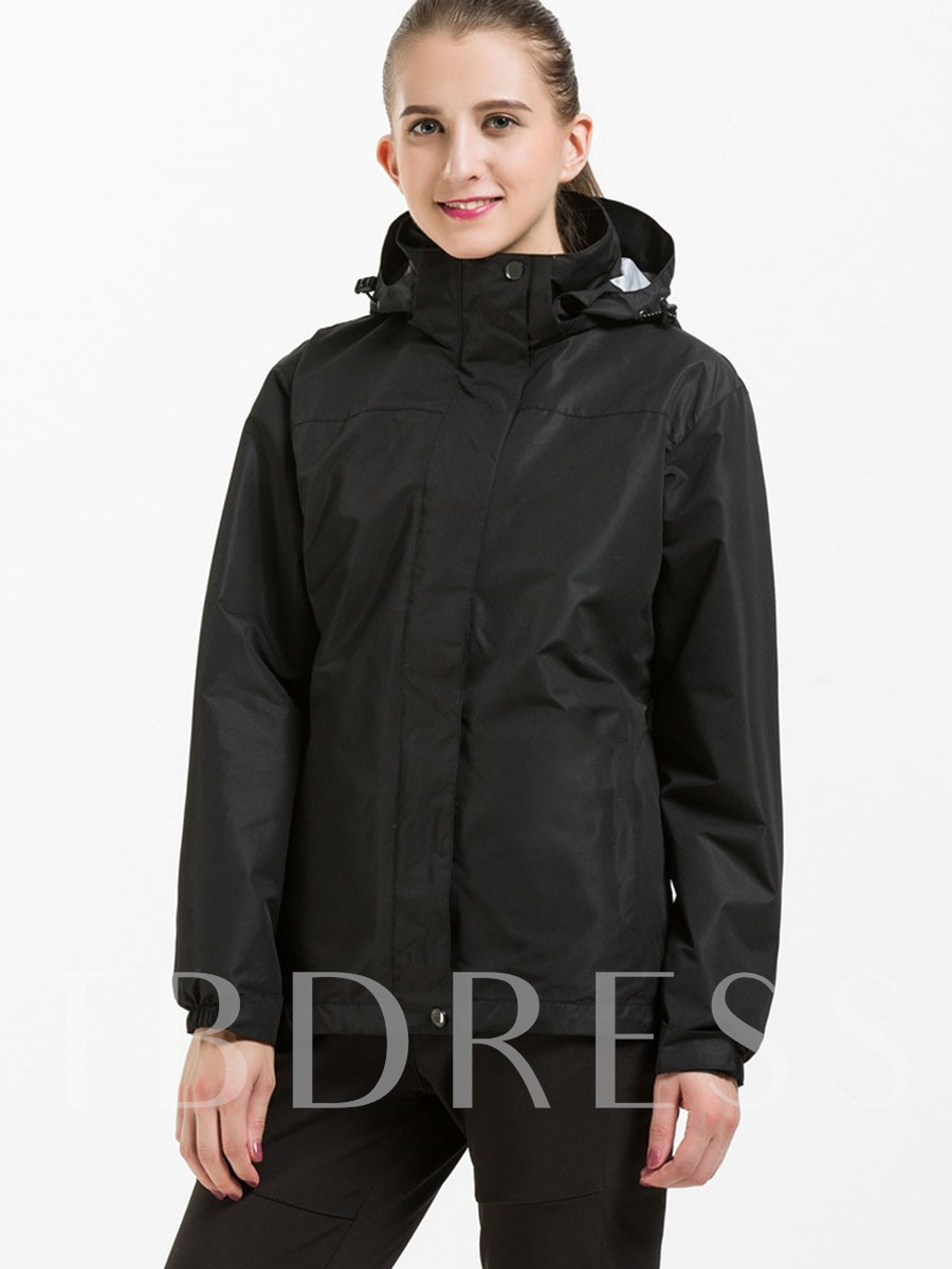 Solid Color Warm Women's Outdoor Coat