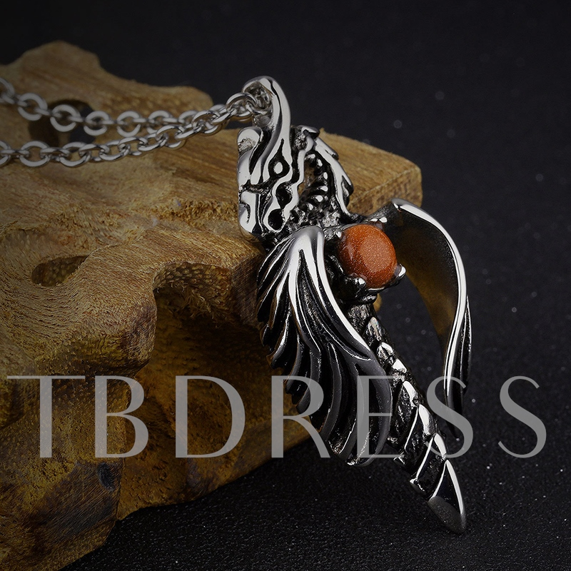 Exaggerated Dragon Pendant Men's Necklace