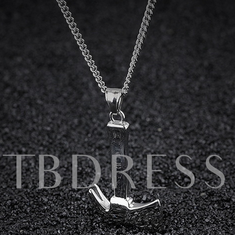 Unique Axe Shaped Pendant Men's Necklace