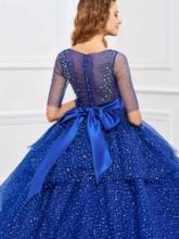 Half Sleeves Beading Sequins Ball Gown Quinceanera Dress
