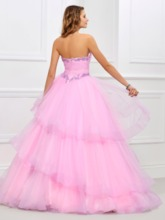 Ball Gown Beading Tiered Sweetheart Floor-Length Quinceanera Dress