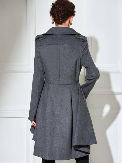 Double-Breasted Short Front Women's Trench Coat