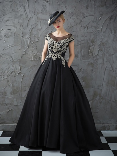 Scoop Ball Gown Beading Rhinestone Quinceanera Dress