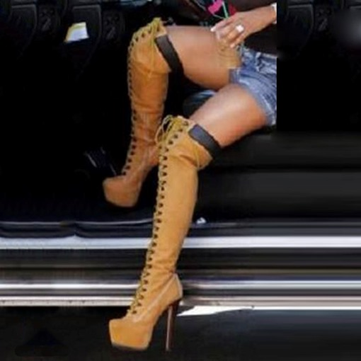 Brown Knee High Cowgirl Boots