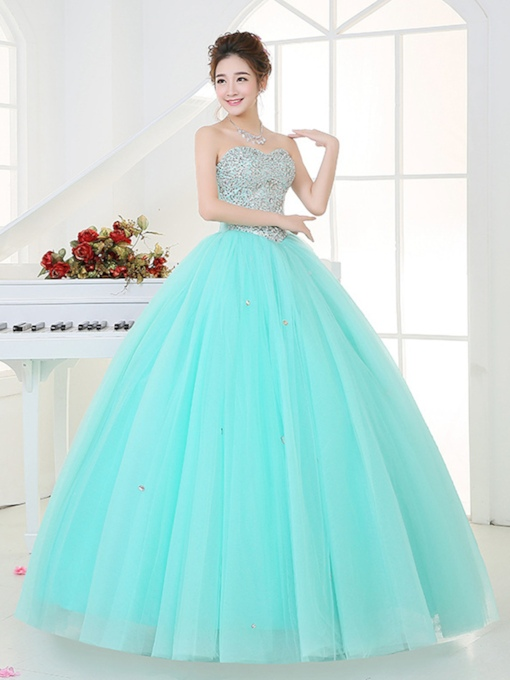 Sweetheart Sequins Beading Quinceanera Dress