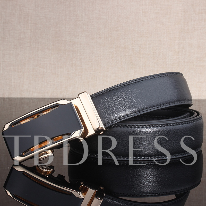 Alloy Automatic Buckle Artificial Leather Men's Belt