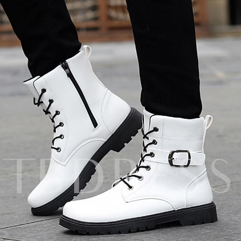 Lace-Up Ankle Buckle Men's Boots