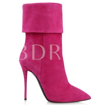 Pointed Toe Stiletto Heel Ankle Women's Boots