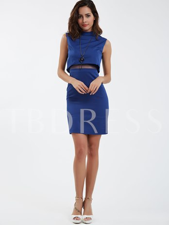 TBdress Design Polished Two-Piece Set Turtle Collar Sleeveless Suit