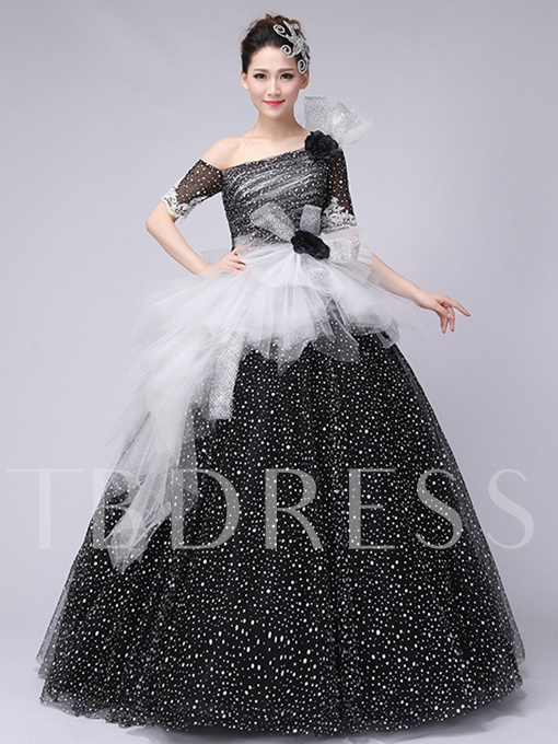 Off-the-Shoulder Bowknot Pick-Ups Quinceanera Dress