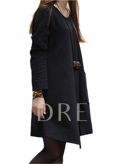 Mori Girl Above Knee Women's Long Sleeve Dress