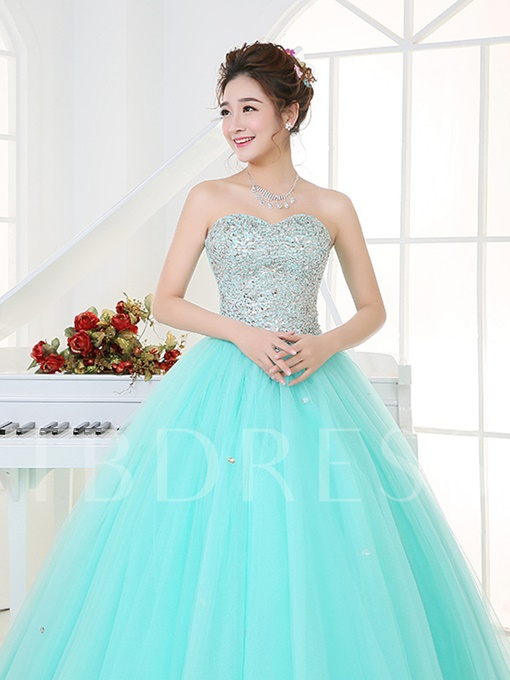 Sequins Beaded Sweetheart Quinceanera Dress