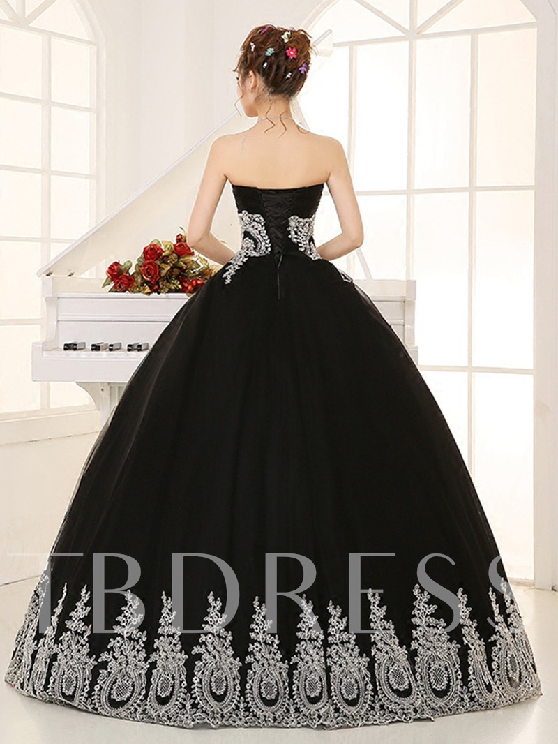 Rhinestone Sequins Appliques Beading Quinceanera Dress