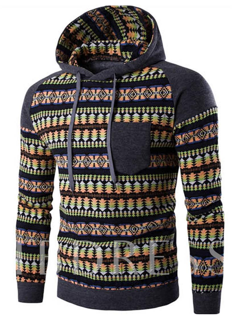 Men's Sports Hoodie with Relaxed Fit