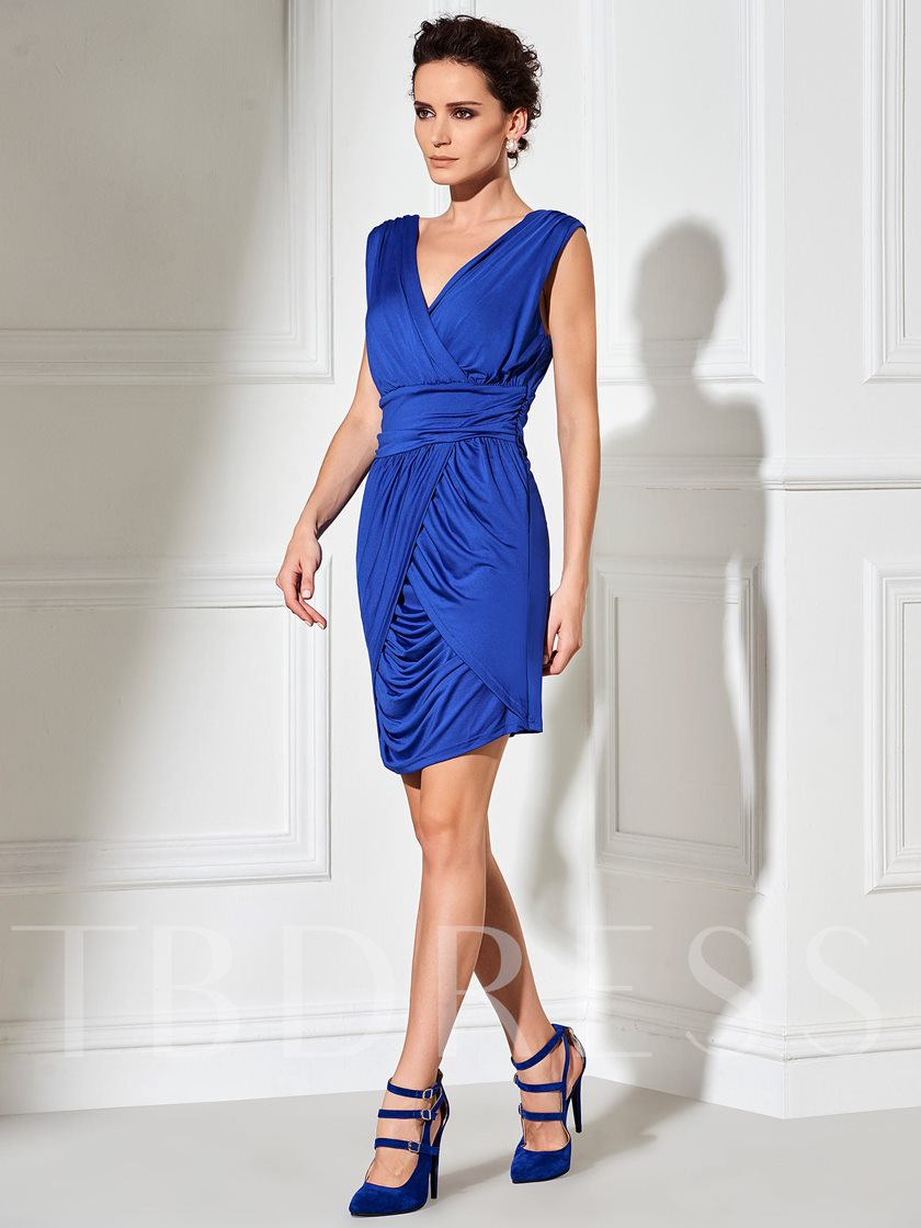 Solid Color Sleeveless Pullover Women's Sheath Dress