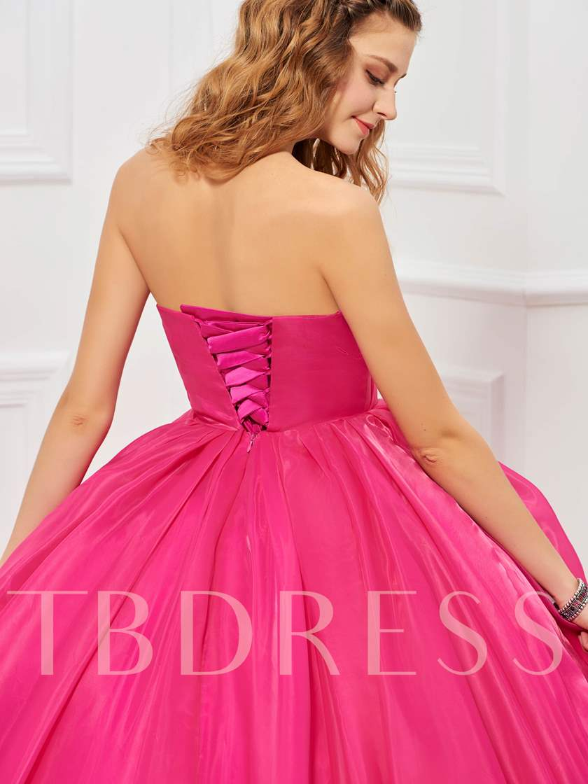 Sweetheart Ball Gown Pick-Ups Quinceanera Dress