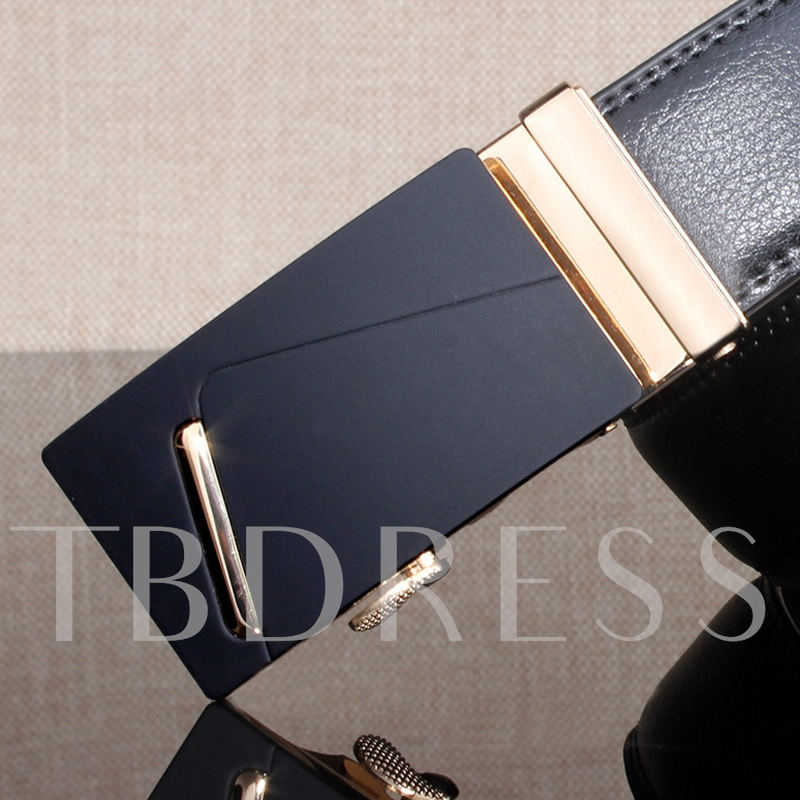 High Quality Artificial Leather Men's Automatic Buckle Belt