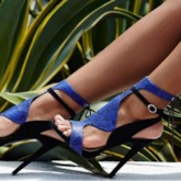 Sexy Royal Blue Heeled Sandals