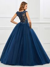 Ball Gown Appliques Beaded Quinceanera Dress