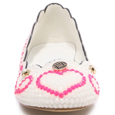 Round Toe Beads Slip-On Women's Flats