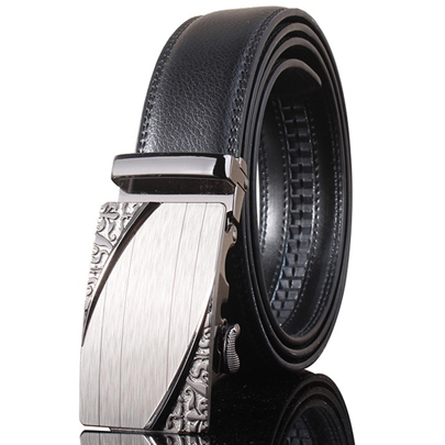 Unique Alloy Buckle Holeless Design Men's Belt