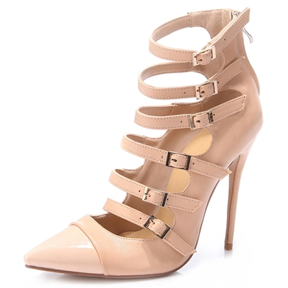 Hollow Pointed Toe Stiletto Heel Women's Pumps