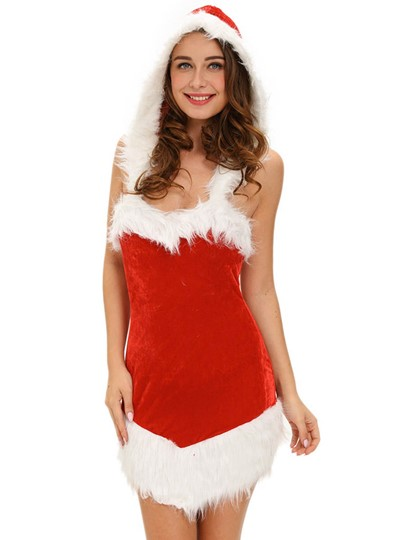 Sexy Backless Santa Cosplay Christmas Costume