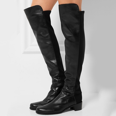 Over-the-Knee Square Heel Slip-On Women's Boots