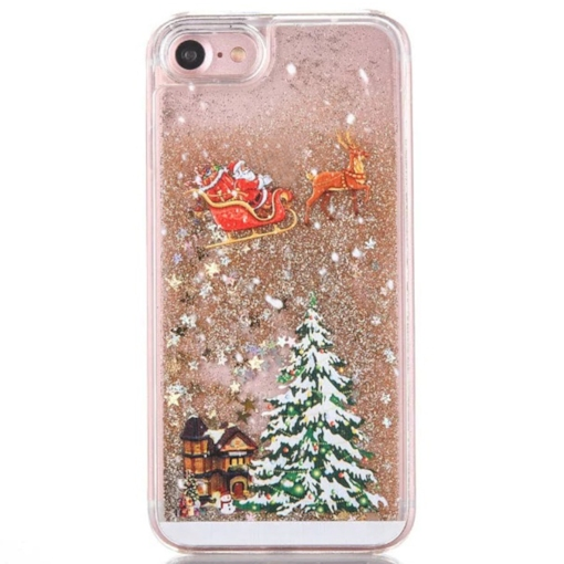 iphone 7plus / 7/6 / 6s plus Fall, bling bling Weihnachtsmann Muster Schale