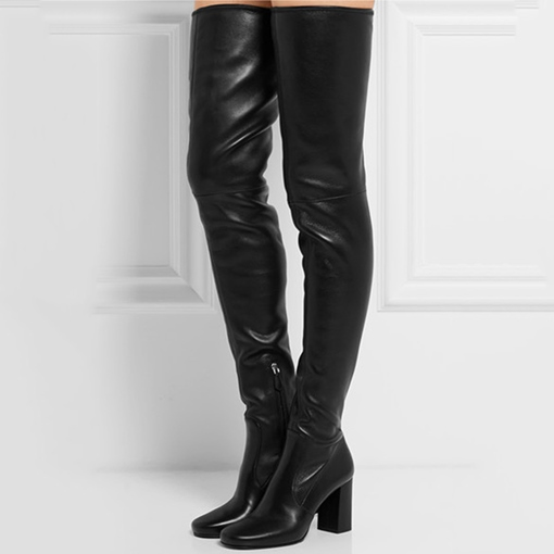 Over-the-Knee Chunky Heel Women's Boots