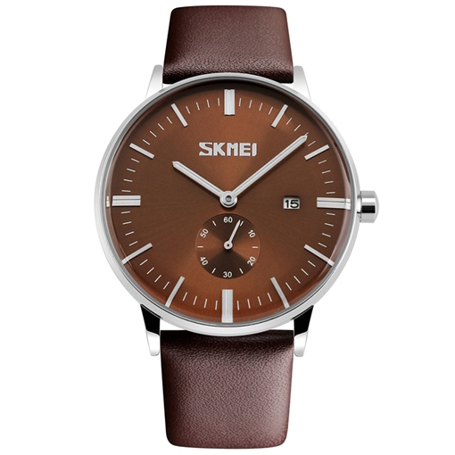 Casual Brown Strip Alloy Men's Watch