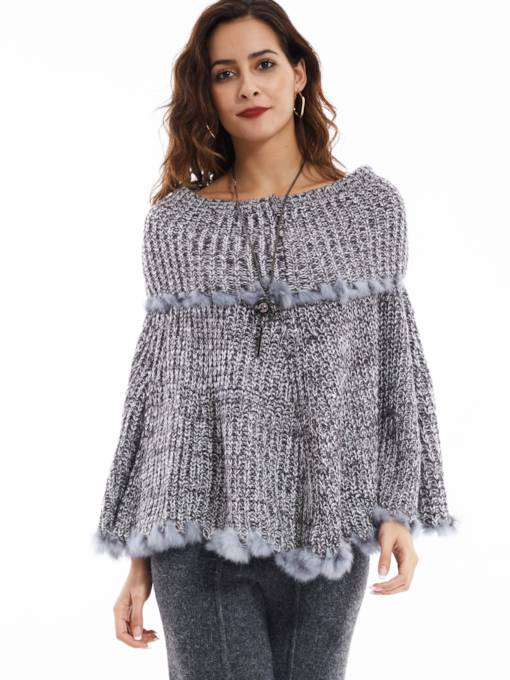Dew shoulder Pullover Slash Neck Women's Cape